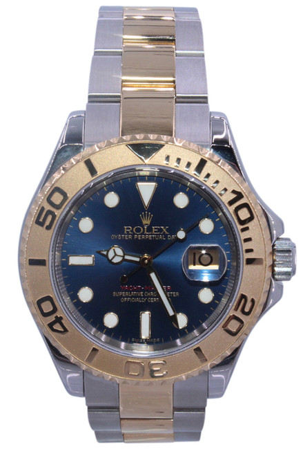 Rolex Oyster Perpetual Yacht-Master - 40mm - Two Tone - Yellow Gold Bezel - Blue Dial - Ref. 16623