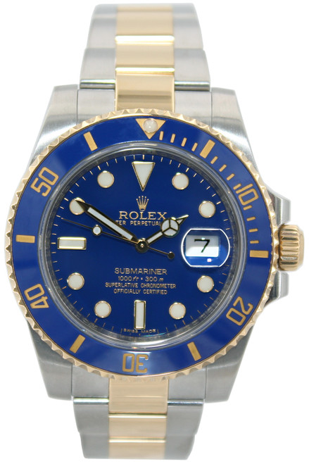 Rolex Oyster Perpetual Submariner Date - 40mm - Two Tone - Blue Ceramic Bezel - Blue Dial - Ref. 116613