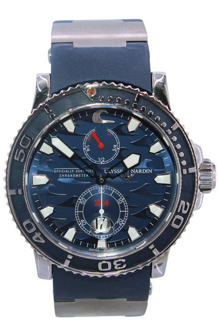 Ulysse Nardin - Blue Surf - Limited Edition - 42mm - Stainless Steel - Blue Wave Dial - Automatic - Ref. 263-36le-3