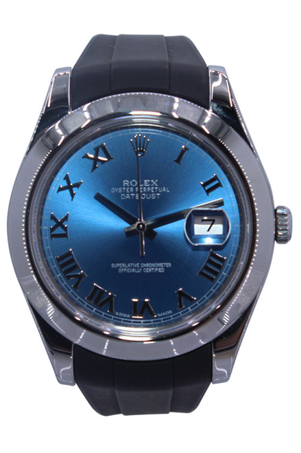 Rolex Oyster Perpetual Datejust II - 41mm - Stainless Steel - Blue Roman Dial - Smooth Bezel - Ref. 116300