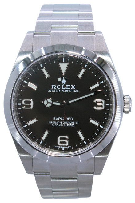 Rolex Oyster Perpetual Explorer - 39mm - Stainless Steel - Smooth Bezel - Black Luminous Dial - Oyster Bracelet - Ref. 214270