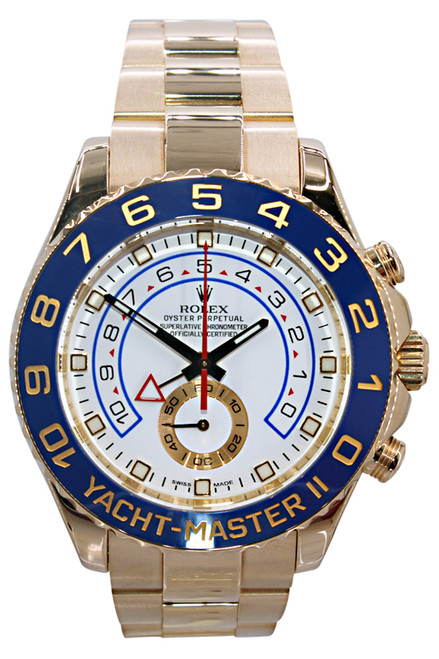 Rolex Oyster Perpetual Yacht-Master II - 44mm - 18k Yellow Gold - Blue Ceramic Bezel - White Dial - Ref. 116688