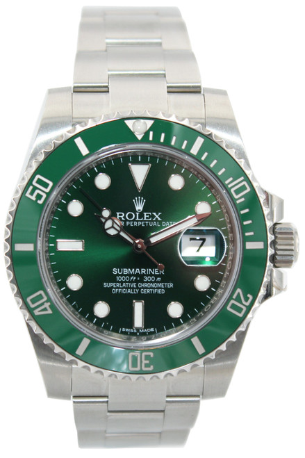"Rolex Oyster Perpetual Submariner Date - 40mm - Stainless Steel - ""Hulk"" - Green Ceramic Bezel - Green Dial - Ref. 116610"