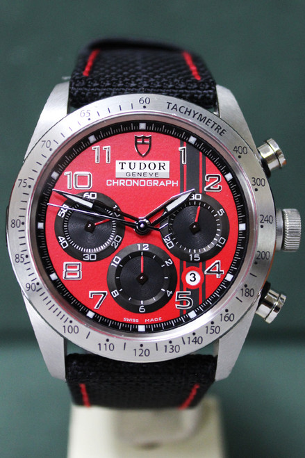 Tudor Fastrider Chronograph - 42mm - Tachymertric Scale Bezel - Red Dial - Black Fabric Strap - Ref. 42000D