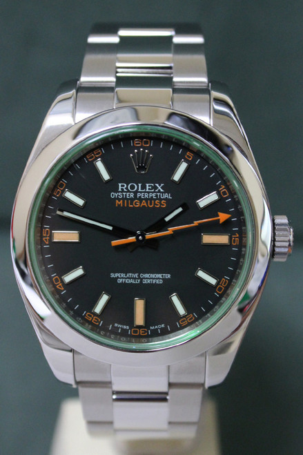 Rolex Oyster Perpetual Milgauss - 40mm - Stainless Steel - Smooth Bezel - Black Dial - Oyster Bracelet - Ref. 116400