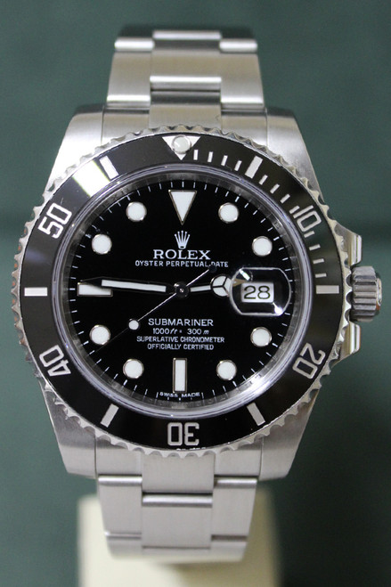 Rolex Oyster Perpetual Submariner Ceramic - 40mm - Stainless Steel - Unidirectional Rotatable Black Bezel - Black Dial - Oyster Bracelet - Ref. 116610