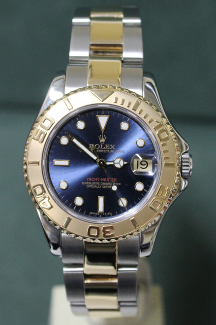Rolex Oyster Perpetual Midsize Yacht-Master - 35mm - Stainless Steel - 18k Yellow Gold Unidirectional Bezel - Blue Dial - Two-Tone Oyster Bracelet - Ref. 68623