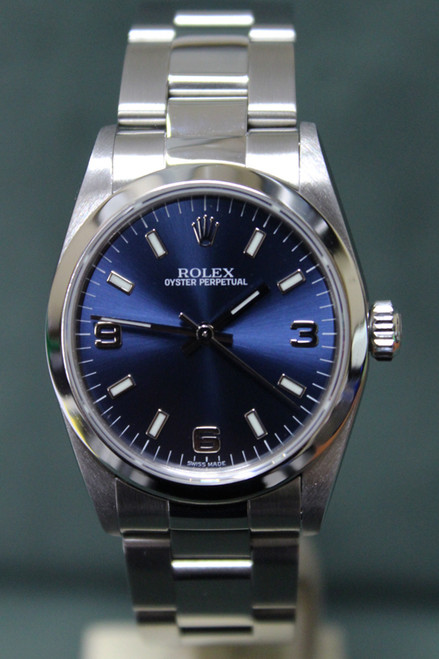 Rolex Oyster Perpetual - 31mm - Stainless Steel - Dome Bezel - Blue Dial - Oyster Bracelet - Ref. 77080