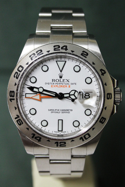 Rolex Oyster Perpetual Explorer II - 42mm - Stainless Steel - 24 Hour Bezel - White Dial - Oyster Bracelet - Ref. 216570