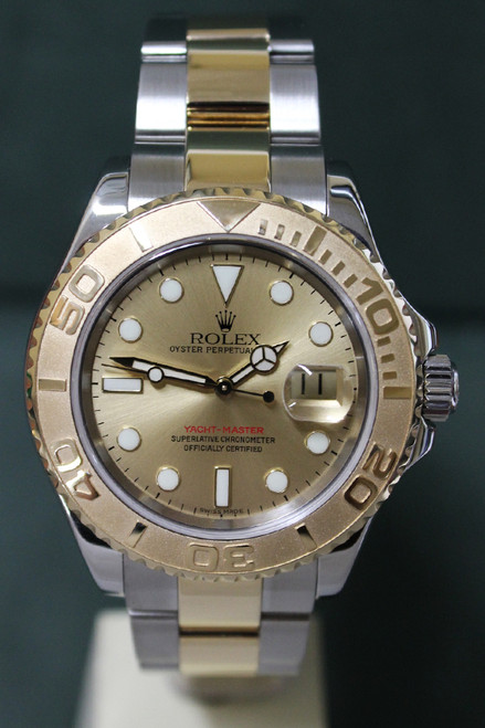 Rolex Oyster Perpetual Yacht-Master - 40mm - Two-Tone - Yellow Gold Bidirectional Rotatable Bezel - Champagne Dial - Two-Tone Stainless Steel And Yellow Gold Oyster Bracelet - Ref. 16623
