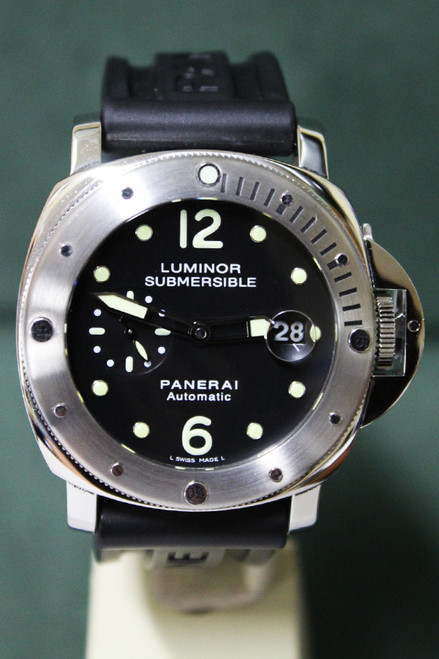 Panerai Luminor Submersible - 44mm - Stainless Steel - Black Dial - Black Rubber Strap - Ref. PAM24