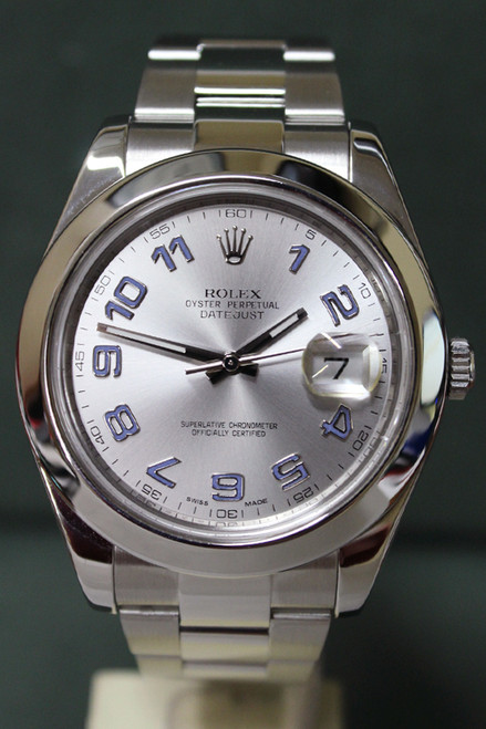 Rolex Oyster Perpetual Datejust II - 41mm - Stainless Steel - Smooth Bezel - Silver Arabic Dial - Oyster Bracelet - Ref. 116300