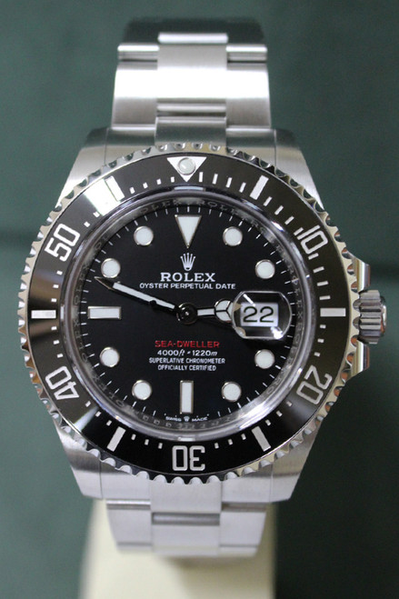 Rolex Oyster Perpetual Ceramic Sea-Dweller - 43mm - Stainless Steel - Unidirectional Rotatable Bezel With Black Insert - Black Dial - Oyster Bracelet - Ref. 126600