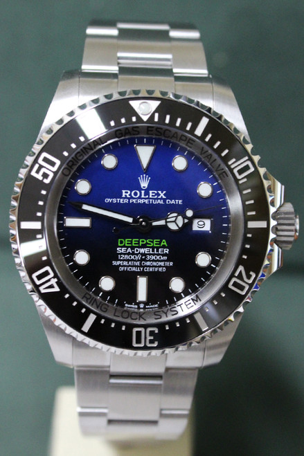 Rolex Oyster  Perpetual Sea-Dweller Deep Sea - 44mm - Stainless Steel - Unidirectional Rotatable Bezel With Black Insert - Blue And Black Dial - Stainless Steel Oyster Bracelet - Ref. 126660