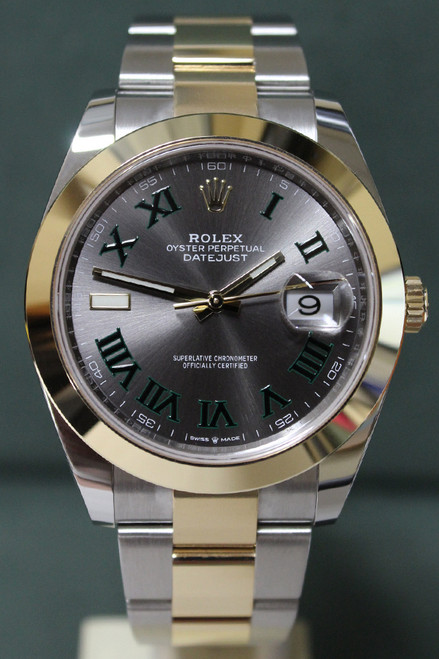 Rolex Oyster Perpetual Datejust 41 - 41mm - Two-Tone - Yellow Gold Smooth Bezel - Grey Roman Dial - Two-Tone Stainless Steel And Yellow Gold Oyster Bracelet - Ref. 126303