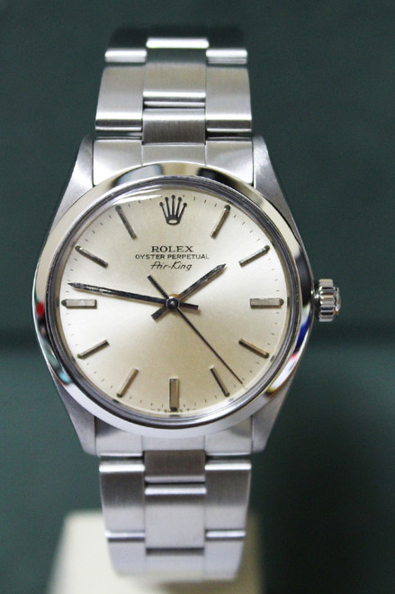 Rolex Oyster Perpetual Air-King - 34mm - Stainless Steel - Domed Bezel - Silver Stick Dial - Oyster Bracelet - Ref. 5500