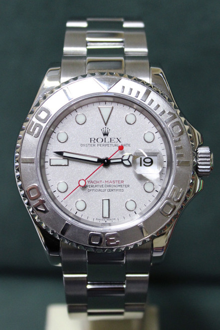 Rolex Oyster Perpetual Yacht-Master - 40mm - Stainless Steel - Platinum Bezel - Silver Dial - Stainless Steel Oyster Bracelet - Ref. 16622