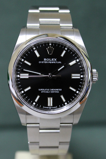 Rolex Oyster Perpetual - 36mm - Stainless Steel - Smooth Bezel - Black Index Dial - Oyster Bracelet - Ref. 126000