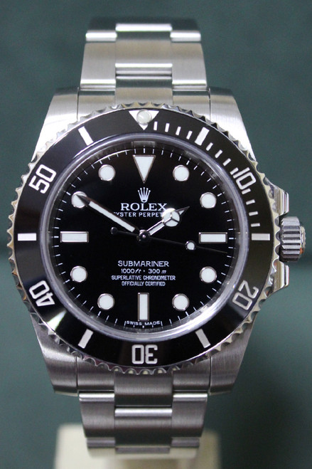 Rolex Oyster Perpetual Ceramic Submariner No Date - 41mm -Stainless Steel - Unidirectional Rotatable Bezel With Black Insert - Black Dial - Stainless Steel Oyster Bracelet - Ref. 124060