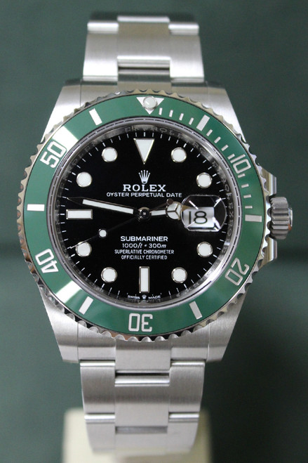 """Rolex Oyster Perpetual Ceramic Submariner Date  """"Kermit"""" - 40mm - Stainless Steel - Unidirectional Rotatable Bezel With Green Insert - Black Dial - Oyster Bracelet - Ref. 126610"""