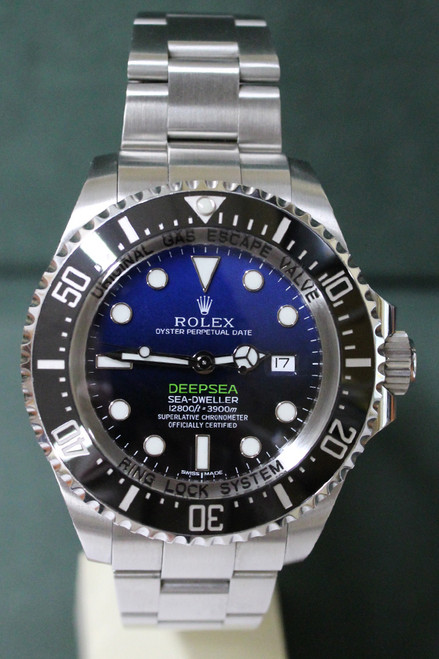 Rolex Oyster Perpetual Deep Sea Sea Dweller - 44mm - Stainless Steel - Unidirectional Rotatable Bezel With Black Insert - Blue And Black Dial - Oyster Bracelet - Ref. 126660