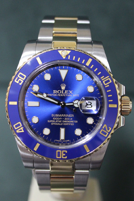 Rolex Oyster Perpetual Ceramic Submariner Date - 40mm - Two-Tone - Yellow Gold Unidirectional Rotatable Bezel With Blue Insert - Blue Dial - Two-Tone Stainless Steel And Yellow Gold Oyster Bracelet - Ref. 116613