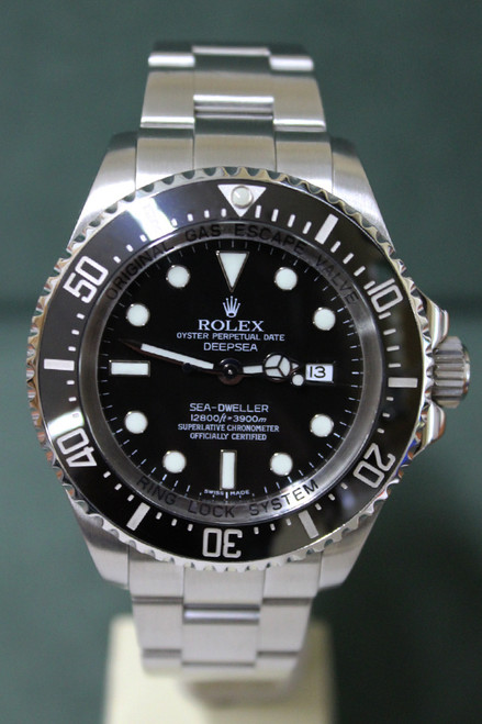 Rolex Oyster Perpetual Sea-Dweller Deep Sea - 44mm - Stainless Steel - Unidirectional Rotatable Bezel With Black Insert - Black Dial - Stainless Steel Oyster Bracelet - Ref. 126660