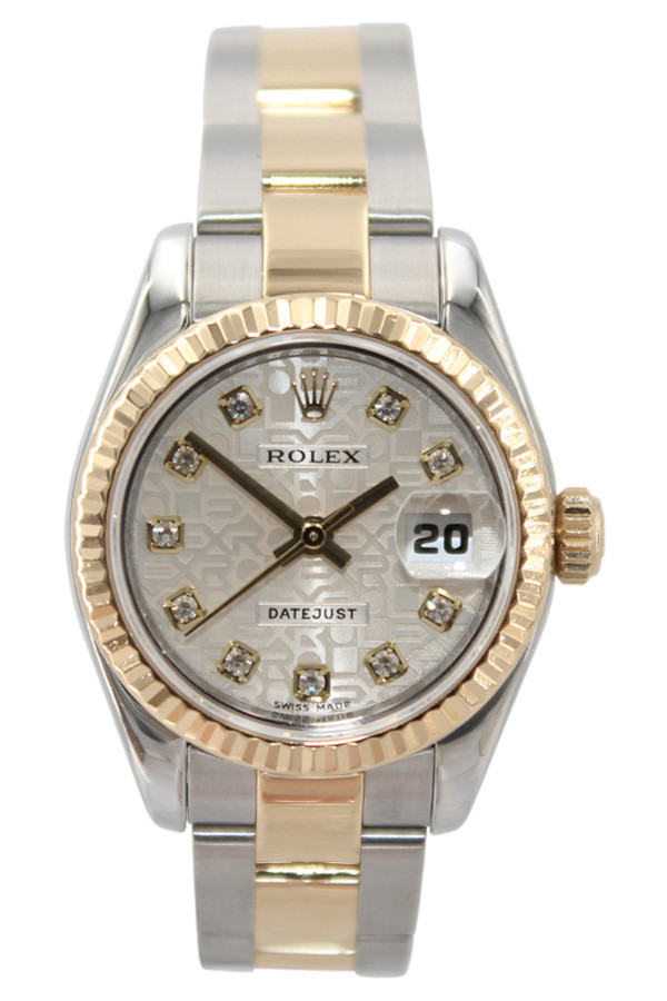 9cfc3af218ac Rolex Oyster Perpetual Lady Datejust - 26mm - Two Tone - Silver Jubilee  Diamond Dial -