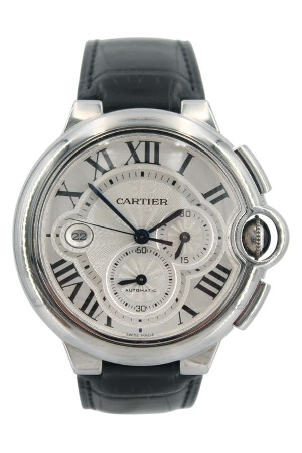 Cartier Ballon Bleu - 44mm - Stainless Steel - Silver Dial - Chronograph - Automatic - Ref. W6920078