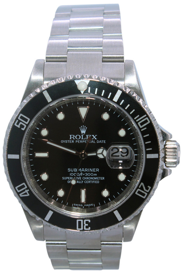 Rolex Oyster Perpetual Submariner Date - 40mm - Stainless Steel - Black Bezel - Black Dial - Ref. 16610(Item#13556)