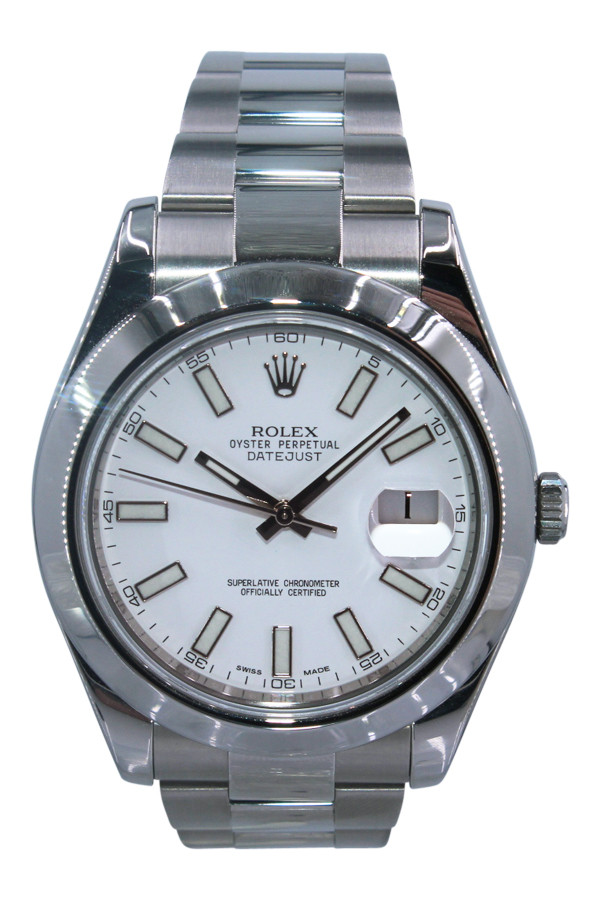 37766592c5b Rolex Oyster Perpetual Datejust II - 41mm - Stainless Steel - White Index  Dial - Smooth
