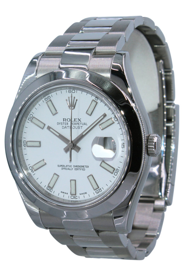 93906cef679 ... Rolex Oyster Perpetual Datejust II - 41mm - Stainless Steel - White  Index Dial - Smooth ...