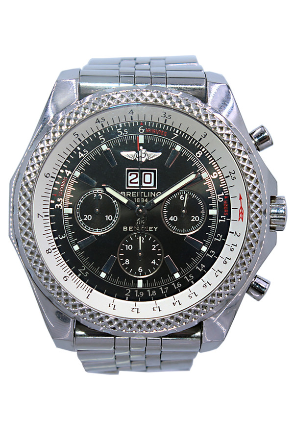 Breitling - Bentley - 48mm - Stainless Steel - Black Index Dial - Chronograph - Automatic - Ref.  A44362