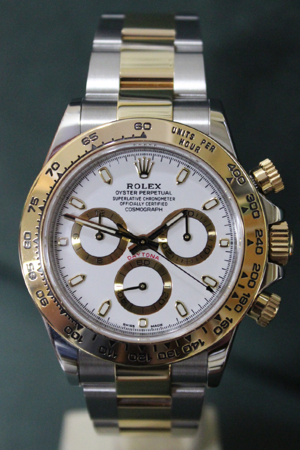 Rolex Oyster Perpetual Daytona - 40mm - Two-Tone - Yellow Gold Bezel - White Dial - Two-Tone Stainless Steel And Yellow Gold Oyster Bracelet - Ref. 116503