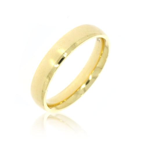 14K Yellow Gold Plain 4mm Wedding  Rings