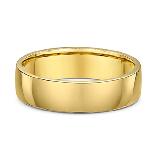 14K Yellow Gold Plain 6mm Wedding Ring