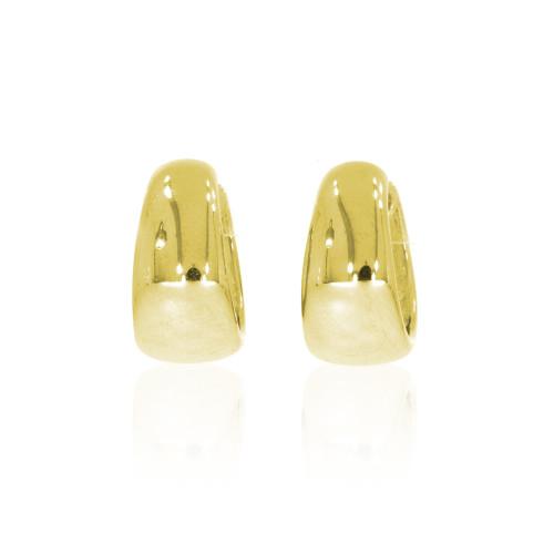 14K Yellow Tapered Huggie Earrings