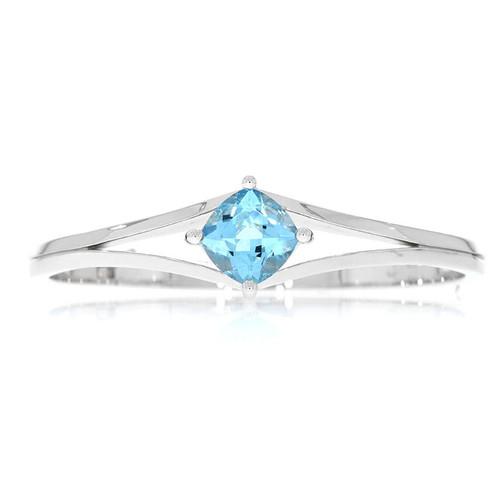 Sterling Silver Split Blue Topaz Bracelet