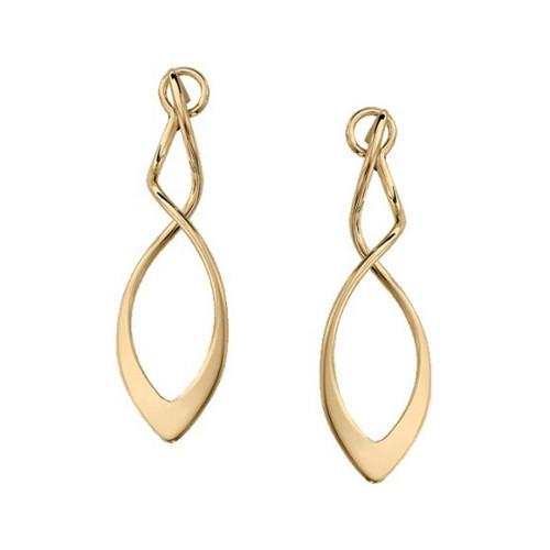14K Yellow Gold Figure 8 Twist Dangle Earrings