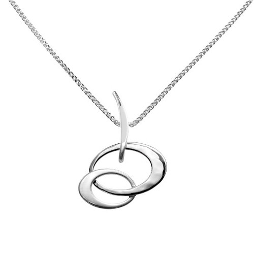 Sterling Silver Double Oval Pendant