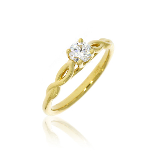 14K Yellow Gold Infinity Engagement Ring