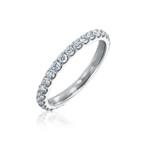 18K White Gold Diamond Eternity Wedding Ring