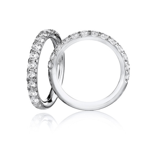 18K White Gold and Diamond Wedding Band - 1.00ctw