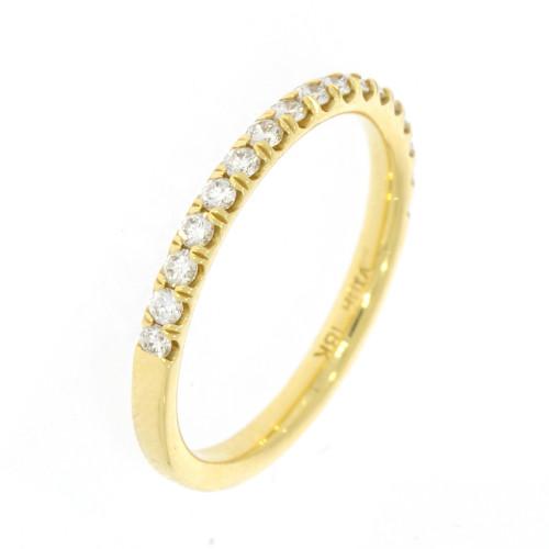 18K Yellow Gold and Diamond Wedding Band - 0.33ctw
