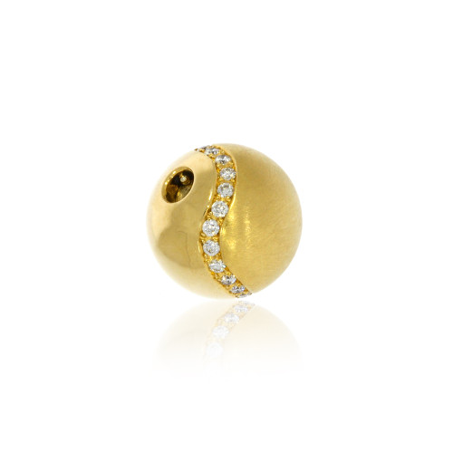 18K Yellow Gold Sphere Centerpiece Clasp with Diamond Accents