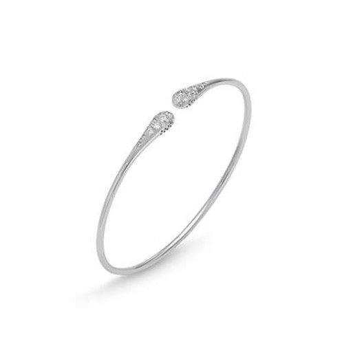 18K White Gold and Diamond Flexible Bracelet