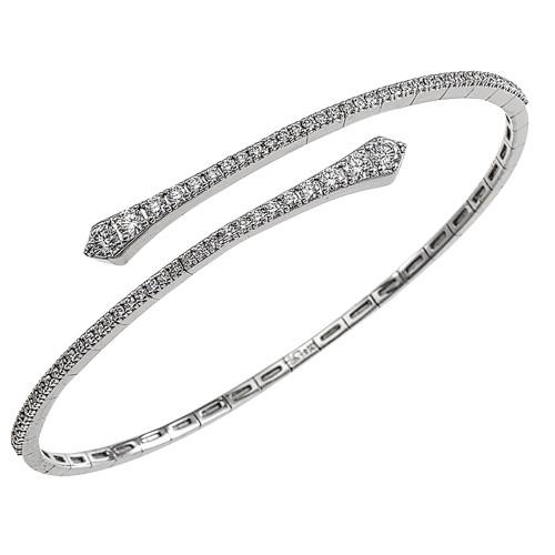 18K White Gold Flexible Diamond Bracelet