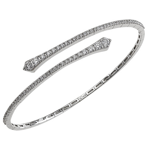 18K White Gold Flexible Diamond Bracelet