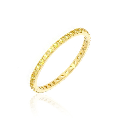 18K Yellow Gold and Yellow Sapphire Eternity Ring