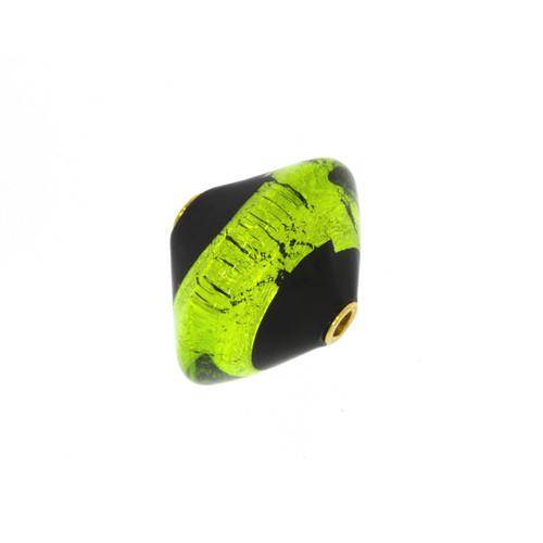 Green and Black Murano Glass Centerpiece Clasp